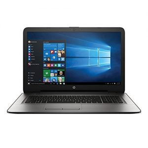 HP Turbo Silver 17.3 Inch Premium Flagship Notebook Laptop Computer (Intel Core i3-6100U 2.3GHz, 6GB RAM, 1TB Hard Drive, DVD/CD Drive, HD Webcam, WiFi, Windows 10) (Certified Refurbished)
