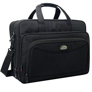17 Inch Laptop Bag, Expandable Large Capacity Business Briefcase, 2-in-1 Messenger Bags for Men, Crossbody Travel Shoulder Bag Fit Up to 17.3 inch Laptop Notebook MacBook Pro Air Ultrabook