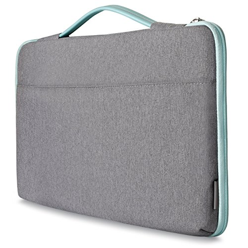 Inateck Shockproof Laptop Sleeve Case Briefcase Spill Resistant for 14 Inch Laptops, Notebooks, Ultrabooks, Netbooks, with Extra Storage Space