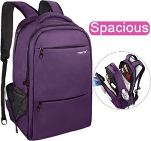 Lapacker 17-Inch Water Resistant Business Laptop Backpack for Women – Purple
