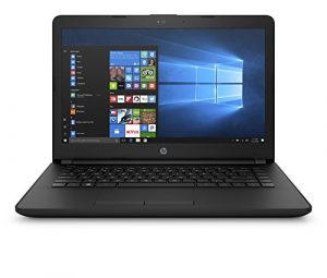 HP 14-inch Laptop, AMD Dual-Core E2-9000e, 4GB RAM, 500GB hard drive, Windows 10 (14-bw010nr, Black)