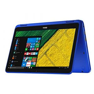 Dell Inspiron 11.6″ Touchscreen 2 in 1 Laptop PC Intel Celeron N3060 Dual-Core Processor up to 2.48 GHz 4G Memory 32G Hard Drive Wifi USB 3.0 Bluetooth Windows 10 BLue