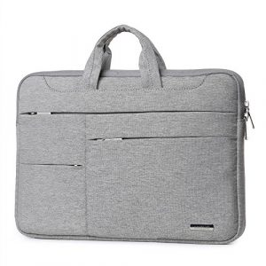 HYZUO 14-15.4 Inch Laptop Sleeve Bag for 15Inch MacBook Pro / Pro Retina Protective Carrying Handbag Case Cover for 14″ 15″ Lenovo Dell Toshiba HP Chromebook ASUS Acer, Light Gray