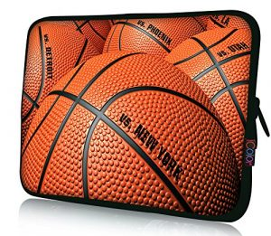 iColor Laptop Bag Tablet PC Sleeve 11.6″ 12 12.1 12.2 inch Neoprene Computer Sleeve Cover Case Pouch For 11.6~12.5″ Chromebook Ultrabook Notebook Computer-Basketball
