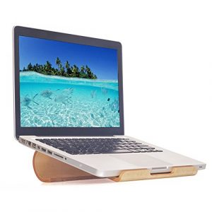 belüftet Laptop-Ständer Samdi Holz Notebook Halter Schutzhülle für MacBook iPad Air Pro Mini Retina und andere Tablet und Laptop, tragbar & kompakt White Birch 24.8 x 23.2 x 7.2 cm