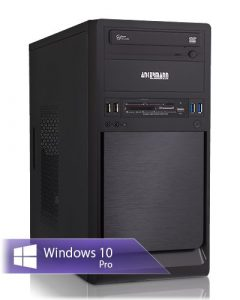Ankermann-PC Work Business Office Happy Day PC, AMD FX 4300 4×3,80 GHz Turbo: 4,00GHz, Graphic DVI-HDMI-VGA, 8GB RAM, 240GB SSD, 1TB HDD, Windows 10 Pro, Card Reader, EAN 4260409324695