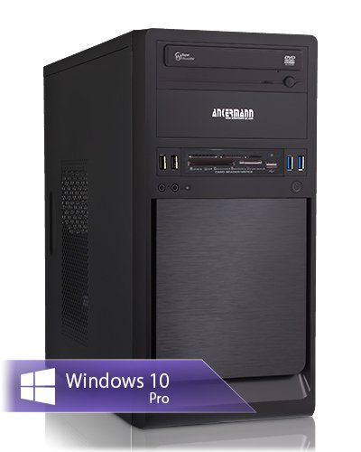 Ankermann-PC Work Business Office Happy Day PC, AMD FX 4300 4x3,80 GHz Turbo: 4,00GHz, Graphic DVI-HDMI-VGA, 8GB RAM, 240GB SSD, 1TB HDD, Windows 10 Pro, Card Reader, EAN 4260409324695