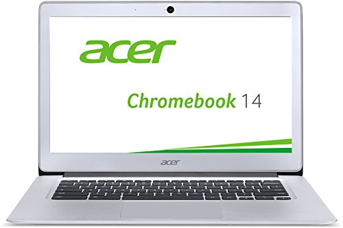 Acer Chromebook 14 CB3-431-C6UD 35,6 cm (14 Zoll Full HD IPS matt) Notebook (Intel Celeron N3160, 4GB RAM, 32GB eMMC, Intel HD Graphics, Google Chrome OS) silber