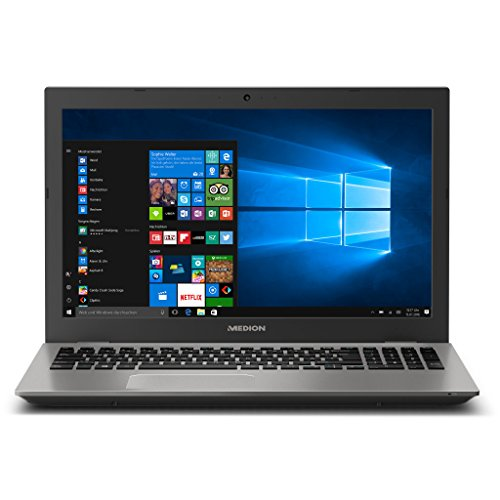 MEDION AKOYA E6437 MD 60813 39,6 cm (15,6 Zoll mattes Full HD Display) Notebook (Intel Core i5-7200U, 6GB RAM, 1TB HDD, 128GB SSD, Intel HD-Grafik, Win 10 Home) silber