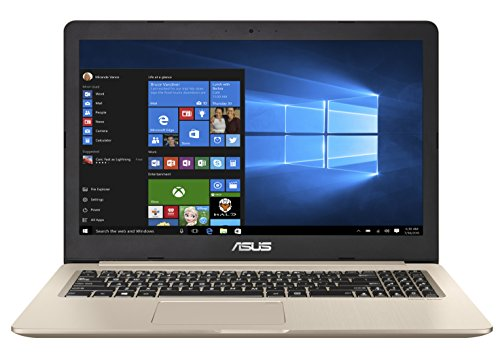 Asus VivoBook Pro 15 N580VD-DM027T 39,62 cm (15,6 Zoll mattes FHD) Notebook (Intel Core i7-7700HQ, 16GB RAM, 256 GB SSD, 1TB HDD, NVIDIA GeForce GTX 1050, Win 10 Home) gold