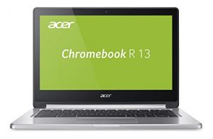 Acer Chromebook R 13 CB5-312T-K0YK 33,8 cm (13,3 Zoll Full HD IPS 360°) Convertible Notebook (MediaTek Quad-Core MT8173C, 4GB RAM, 32GB eMMC, Google Chrome OS) silber