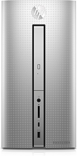 HP Pavilion (570-p073ng) Desktop PC (Intel Core i5-7400, 8 GB RAM, 1 TB HDD, 128 GB SSD, Intel HD-Grafikkarte 630, DVD-Writer, Windows 10 Home 64) silber