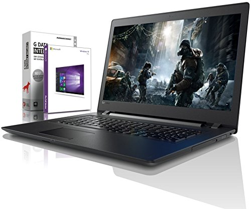 Lenovo (17,3 Zoll) Notebook (Intel Pentium 4415U Dual Core 2x2.30 GHz, 4GB DDR4 RAM, 640GB S-ATA HDD, DVD±RW, Intel HD 610, HDMI, Webcam, Bluetooth, USB 3.0, WLAN, Windows 10 Prof. 64 Bit) #5457
