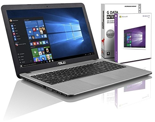 ASUS (15,6 Zoll) Notebook (Intel N3710 Quad Core 4x2.56 GHz, 4GB RAM, 640GB S-ATA HDD, Intel HD Graphic, HDMI, VGA, Webcam, USB 3.0, USB Type-C, WLAN, DVD-Brenner, Windows 10 Professional 64-Bit [geprüfte erneut verpackte Originalware] #5483