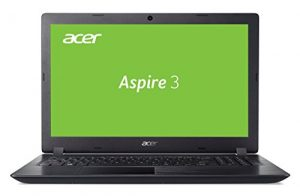 Acer Aspire 3 A315-51-31QC 39,6 cm (15,6 Zoll HD matt) Multimedia Notebook (Intel Core i3-6006U, 8GB RAM, 128GB SSD, Intel HD, Win 10) schwarz