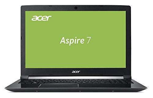 Acer Aspire 7 A715-71G-74S7 39,6 cm (15,6 Zoll Full-HD IPS matt) Multimedia/Gaming Notebook (Intel Core i7-7700HQ, 16GB RAM, 512GB PCIe SSD, NVIDIA GeForce GTX 1050Ti (4GB VRAM), Win 10) schwarz