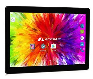 ACEPAD A121 (10.1″) 3G Tablet PC, 2GB RAM, 64GB Speicher, Dual-SIM, Android 7.0, IPS HD 1280×800, Quad Core CPU, WIFI/WLAN/Bluetooth, USB/SD (Alu-Schwarz)
