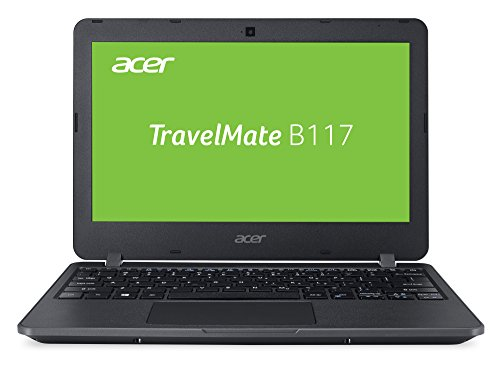 Acer TravelMate B1 TMB117-M-P72Q 29,5 cm (11,6 Zoll HD matt) Notebook (Intel Pentium N3710, 4GB RAM, 64GB eMMC, Intel HD, Win 10 S) schwarz