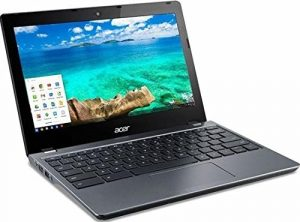 Acer Chromebook (C740-C3DY) 29,46 cm (11,6 Zoll HD matt) Netbook (Intel Celeron 3205U, 2GB RAM, 32GB SSD, Intel HD, Chrome OS) granit grau