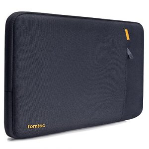 Tomtoc Laptop Schutzhülle Tasche für Apple 13,3″ MacBook Air/13 MacBook Pro Retina 2012-2015/12,9″ iPad Pro/13,5″ Microsoft Surface Book, 13-13,5 Zoll Notebook Sleeve Tragetasche, Blau Schwarz