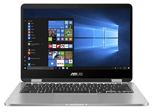 Asus VivoBook Flip 14 TP401NA-EC004T 35,5 cm (14 Zoll FHD Touch) Convertible Laptop (Intel Pentium N4200, 8GB RAM, 256GB SSD, Intel HD Graphics, Win 10 home) grau