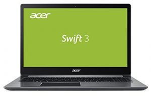 Acer Swift 3 SF315-51-3990 39,6 cm (15,6 Zoll Full-HD IPS) Ultrabook (Intel Core i3-7100U, 4GB RAM, 128GB SSD, Intel HD, Win 10) Grau