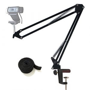 "Tencro Aktualisiert Webcam Stand justierbare Desktop Suspension Boom Scissor Arm Kamera Clamp Halterung für Logitech Webcam C920 C930 C922 C615, Microsoft LifeCam und andere Geräte mit 1/4 ""Gewinde"