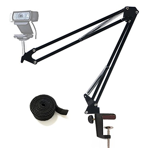 Tencro Aktualisiert Webcam Stand justierbare Desktop Suspension Boom Scissor Arm Kamera Clamp Halterung für Logitech Webcam C920 C930 C922 C615, Microsoft LifeCam und andere Geräte mit 1/4
