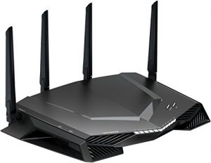 Netgear Nighthawk XR500-100EUS AC2600 Dual-Band Pro Gaming WLAN Router (Quad Stream, Gaming Dashboard, Geo Filter, QoS, Software Powered by Netduma) Schwarz