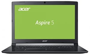 Acer Aspire 5 (A517-51G-54ED) 43,9 cm (17,3 Zoll Full-HD IPS Matt) Multimedia Laptop (Intel Core i5-8250U, 8 GB RAM, 128 GB SSD + 1.000 GB HDD, NVIDIA GeForce MX130 (2 GB VRAM), Win 10) Schwarz