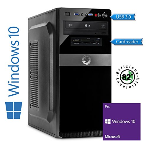 Memory PC Intel PC Core i5-7400 7. Generation (Quadcore) Kaby Lake 4x 3.0 GHz, ASUS, 8 GB DDR4, 256 GB SSD Sata3/-600, Intel HD 630 Grafik 4K, USB 3.0, SATA3, HDMI, DVD-Brenner, Sound, GigabitLan, Windows 10 Pro 64bit, MultimediaPC, Cardreader, Kabylake