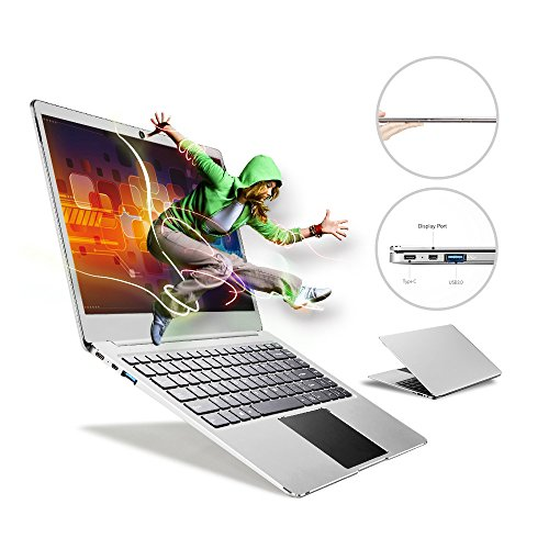 Bben Notebook Ultrabook Laptop 35,56 cm 14,1 Zoll Intel Celeron N3450, 4GB Ram 64 GB eMMC Supports M.2 SSD Upgrade(Up to 512 GB), Intel HD Graphics, Type C, Webcam, Bluetooth, USB 3.0, Windows 10, Silber