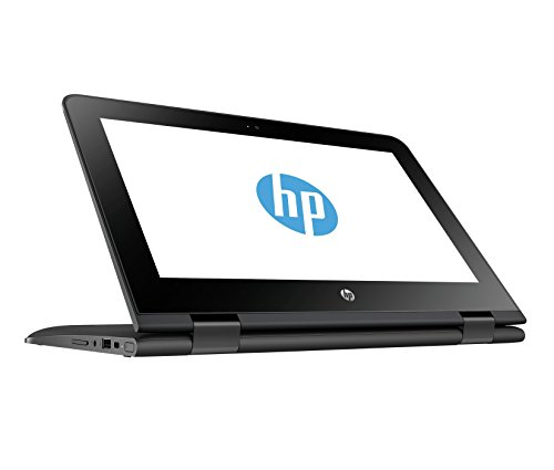 HP Stream x360 11-aa001ng 29,5 cm (11,6 Zoll HD Touchdisplay) Convertible Laptop (Intel Celeron N3060, 4GB RAM, 32GB eMMC, Intel HD Grafikkarte 400, Windows 10 Home) Schwarz