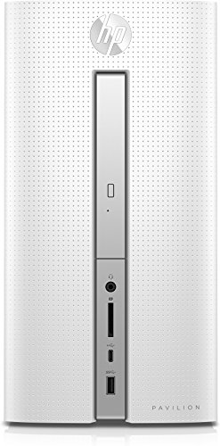 HP Pavilion 570-p561ng Desktop-PC (AMD Quad-Core A8-9600 APU, 8GB RAM, 1TB HDD, AMD Radeon R7-Grafikkarte, DVD, Windows 10 Home 64) Weiß