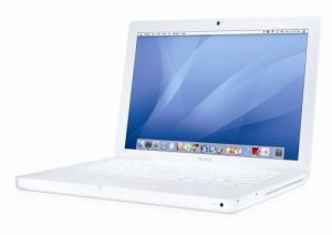 Apple MacBook  MB062 33,8 cm (13,3 Zoll) Notebook weiß (Intel Core 2 Duo 2,16GHz, 1GB RAM, 120GB HDD, DVD+- DL RW)