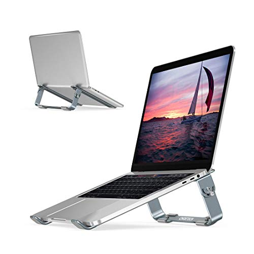 CHOETECH Laptopständer, Faltbarer Notebookständer 4 Einstellbarer Winkeln Holder, Belüftet Computer Stand Kompatibel mit Apple MacBook Air, MacBook Pro, Chromebook, Acer, HP, Dell usw.(9-17 Zoll)