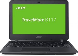 Acer TravelMate B1 TMB117-M-C1W5 29,5 cm (11,6 Zoll HD matt) Laptop (Intel Celeron N3160, 4GB RAM, 128GB SSD, Intel HD, Linux (Endless OS)) schwarz