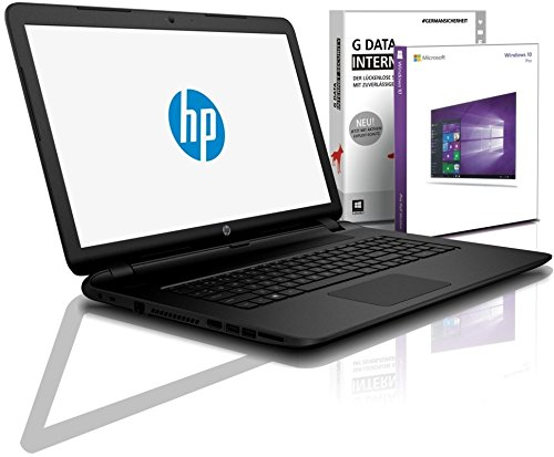HP Notebook 17,3 Zoll, AMD E2-9000e Dual Core 2x2.00 GHz, 4GB DDR4, 500GB HDD, DVD?RW, AMD Radeon R2, BT, USB 3.0, WLAN, Win10 Prof. 64 #5639