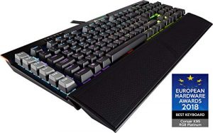 Corsair K95 RGB Platinum Mechanische Gaming Tastatur (Cherry MX Speed, Multi-Color RGB Beleuchtung, QWERTZ) schwarz