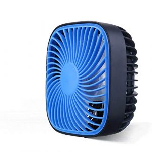 Mobile Klimageräte USB Super Mini Starker Wind Ultra-leiser Office-Desktop-Fan (Color : Blue)
