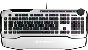 Roccat Horde AIMO Membranical RGB Gaming Tastatur (AIMO LED Beleuchtung, Präzisions-Tastenlayout, Quick-fire Makro-Tasten, konfigurierbares Tuning-Rad, USB) weiß