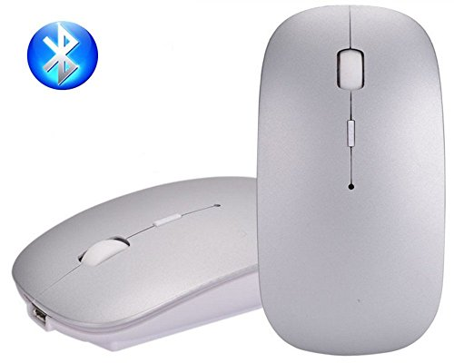 Bluetooth Mouse, EONHUAYU 3.0 Portable Maus mit Wiederaufladbare Wireless USB Maus Leise und Ruhig Click für Notebook, PC, Laptop, Computer, Windows / Android Tablet, Macbook (NICHT für Apple iPhone, iPad, MacBook 2016 Oder Macbook Air) (Silber)
