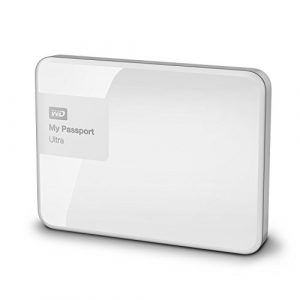 Western Digital My Passport Ultra 1 TB Externe Festplatte (bis zu 5 Gb/s, USB 3.0) brillantweiß