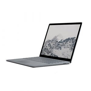 Microsoft Surface Laptop 34,29 cm (13,5 Zoll) (Intel Core M, 128GB Festplatte, 4GB RAM, Intel HD Graphics 615, Win 10 S) Platin Grau