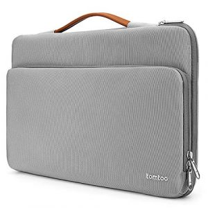 tomtoc Aktentasche Tasche universal kompatible mit 15″-15,6″ HP/Dell / ASUS/Acer / ThinkPad/Samsung / Toshiba Laptop Notebook Chromebook Sleeve Schutzhülle, Grau