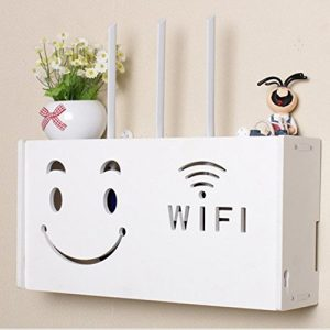 Yazi WiFi Router Regal TV Set-Top-Rack Wandbehang formaldehydfreier Aufbewahrungsbox Smiling Face groß