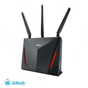 Asus RT-AC86U Gaming Router (AiMesh, WiFi 5 AC2900, Gaming Engine, 4x Gigabit LAN, 1.8 GHz Dual-Core CPU, App Steuerung, AiProtection, Multifunktion USB 3.0)
