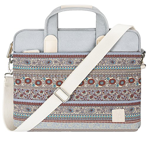 MojiDecor Bohème Stil Canvas Hülle Aktentasche Sleeve Tasche Laptoptasche für 15-15,6 Zoll Laptop / Notebook Computer / MacBook / MacBook Pro / MacBook Air