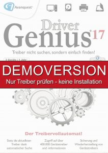 Driver Genius 17 DEMOVERSION – Gratis Treiber prüfen – keine Installation! Für Windows 10|8|7|XP [Download]