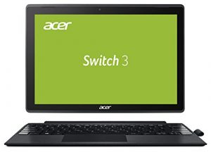 Acer Switch 3 SW312-31-P8VE 31 cm (12,2 Zoll Full-HD) Convertible Notebook (Intel Pentium N4200 Quad-Core, 4GB RAM, 128GB eMMC, Intel HD, Win 10 Home im S Modus) grau, Acer Active Pen
